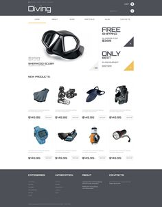 Diving Responsive WooCommerce Theme. Additional features, comprehensive documentation and stock photos are included.