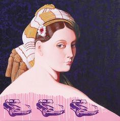 """Saatchi Online Artist Larry Willis; Painting, """"Paris Pop Princess"""" #art"""