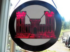 US Army Corps of Engineers by ArbutusGlass on Etsy, $250.00  I wonder if I can make something like this? Project idea?