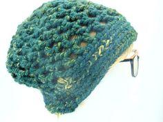Fashionable green beanie / adorable slouchy beanie  4 her / #greenery