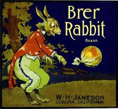 Corona Brer Rabbit Orange Citrus Fruit Crate Label Advertising Art Print