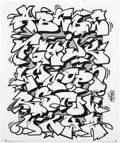 Graffiti Lettering Alphabet, Graffiti Writing, Tattoo Lettering Fonts, Graffiti Tagging, Grafitti Alphabet, Calligraphy Alphabet, Lettering Styles, Islamic Calligraphy, Graffiti Doodles