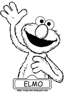 check out coloring pages for the grandkids on pinterest - Elmo Coloring Pages