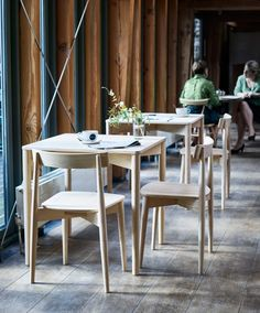 Ercol's launches ergonomically designed Lara chair and bar stool, and the stackable Luca table at Milan Design Week