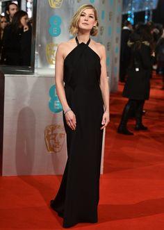 Rosamund Pike in Roland Mouret   BAFTA Awards 2015