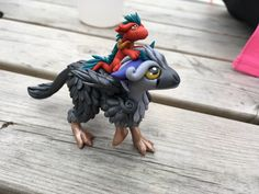 Trico and his dragon friend custom order by calico griffin