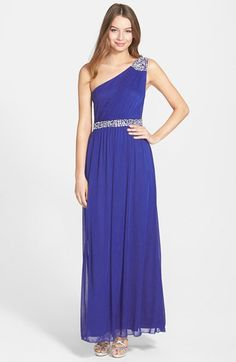 Speechless Embellished One-Shoulder Gown (Juniors) available at #Nordstrom