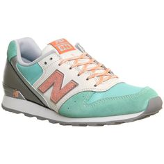 New Balance Wr996 (140 AUD) ❤ liked on Polyvore featuring shoes, sneakers, hers trainers, iced lolly mint grey pink, trainers, pink sneakers, lightweight sneakers, gray sneakers, grey shoes and coral pink shoes