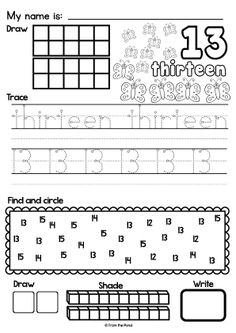 Worksheets - Numbers to 20 Math Worksheets  $