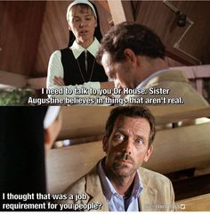 Sarcasm to the core Funny Movie Memes, Tv Funny, Tv Quotes, Movie Quotes, Dr House Funny, Dr House Quotes, House And Wilson, Everybody Lies, Gregory House