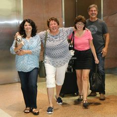 Harley, Mom, Dad, Michele, Teddy and Theresa Strader arriving in Denver after…