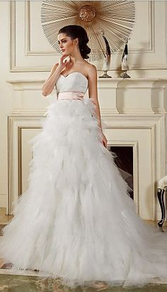 tiered skirt tulle gown