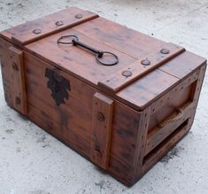 RESERVED For Jamie Rustic Trunk or Treasure Chest | Trunks, Rustic ...