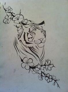 Tiger Tattoo by aluc23.deviantart.com on @DeviantArt