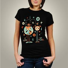 Lord, how I love this! Mr Earth and Mrs Moon Women TShirt by acerriteno on Etsy, $20.00