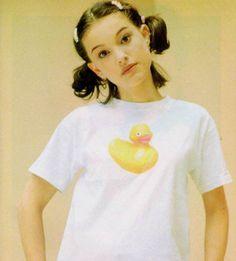 Natalie Portman photographed by Piero Marsili, 1995.