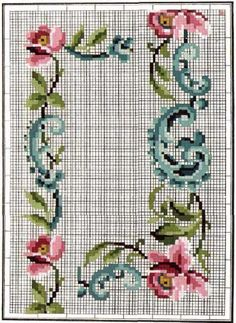 This Pin was discovered by cam Cross Stitch Borders, Cross Stitch Flowers, Cross Stitch Designs, Cross Stitching, Cross Stitch Patterns, Hardanger Embroidery, Cross Stitch Embroidery, Hand Embroidery, Cross Stitch Cushion