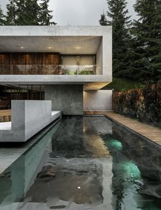 I have pictures of remarkable modern house designs that will inspire you and make you want to live in a contemporary home even more! Get inspired and start working hard and one day all of us will have our own dreamy modern house! Contemporary Architecture, Interior Architecture, Concrete Architecture, Contemporary Design, Exterior Tradicional, Design Exterior, Architecture Magazines, House Goals, Modern House Design