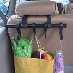 Keep your car organized and your clothes pressed when you are on the go. Would be great to hang purses also.