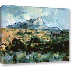 ArtWall Paul Cezanne Montagne Sainte-Victoire Gallery-wrapped Canvas, Size: 18 x 24, Green