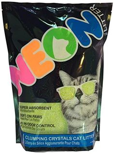 NEON Clumping Silica Gel Cat Litter 4 lb Green * Details can be found by clicking on the image.
