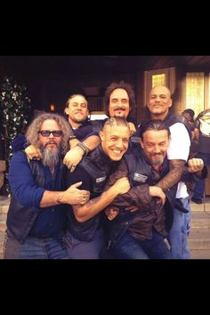 Sons of anarchy-LOVE this show!  They look like they're good friends and having a lot of fun!