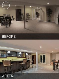 Basement Remodeling Ideas Before And After mark & kim's basement before & after pictures | basements