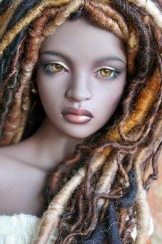 iple ashanti bjd ebony skin (OMG I love this hair! Pretty Dolls, Cute Dolls, Beautiful Dolls, Ooak Dolls, Barbie Dolls, Stuffed Animals, Enchanted Doll, African American Dolls, Black Barbie