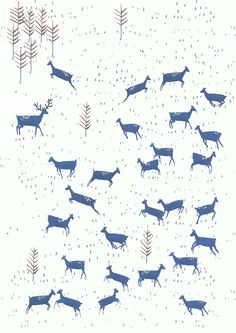 deer print...