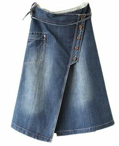 Restyle jeans/capris to skirt!!