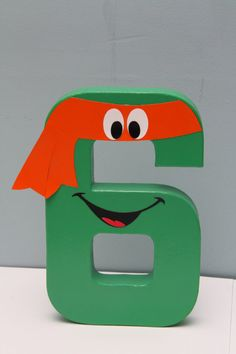 Ninja Turtle Inspired Paper Mache Letter by CraftingCrew on Etsy, $10.00    2 & 4