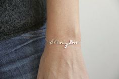 "Handwritten ""All My Love"" Bracelet"