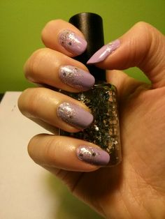 Lavender and silver glitter