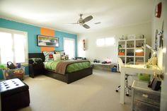 Amy Gibbs Interiors Boy Bedroom Dallas Texas Corner Desk Bedding