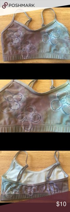 CAPEZIO girls DANCE WEAR Top ONE OF A KIND, Hand dyed/painted 'Flower Bra Top' Buy separately or with matching 'bootie short'  Top (xs) shorts( m) Capezio Shirts & Tops Tank Tops