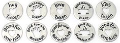 Love Tokens and Messages, a sweet alternative to love coupons. First Ad, First Kiss, Morning Kisses, Best Kisses, Love Coupons, Fun To Be One, Messages, Gifts, Alternative
