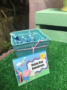 Peppa Pig 3rd Birthday Party! Raindrops (cookies n cream Hershey kisses)