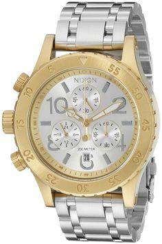 Nixon Women's A4042062 38-20 Chrono Analog Display Analog Quartz Silver Watch