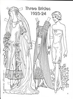 Three Brides 1923-24 Paper Dolls by Charles Ventura - Nena bonecas de papel - Picasa-Webalben Mehr Hochzeitspuppen auf http://de.pinterest.com/jillturner99/paper-dolls-bridal/