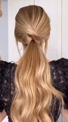 Hairdo For Long Hair, Easy Hairstyles For Long Hair, Cute Hairstyles, Easy Wedding Hairstyles, Summer Hairstyles, Bride Hairstyles, Braids Long Hair, Easy Prom Hair, Straight Hair Updo