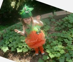 Pumpkin Tutu and Hat Costume Set.. Great Halloween Costume, Photo Prop, Dress up or Gift on Etsy, $53.99