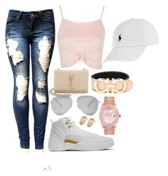 """""""Sun will shine"""" by itsjustmedaddy ❤ liked on Polyvore featuring Topshop, Drakes London, Rolex, Yves Saint Laurent, Victoria Beckham, Salvatore Ferragamo and Polo Ralph Lauren"""