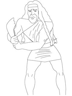 samson and delilah coloring pages samson and delilah sunday