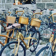 #bambikes! These are bikes made out of #bamboo for #ecotours around #intramuros, #manila #OldTown. #travel #Eco #green #travelphotography #wegosolo #tbex #tbexph :heart::grinning::earth_americas::bike:
