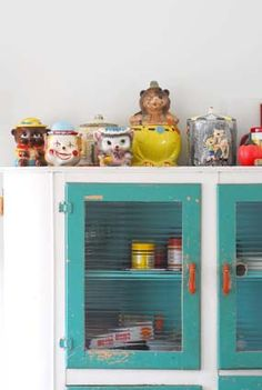 Cookie Jar collection in the kitchen!