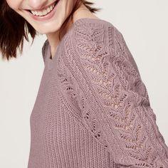 Loft Cable Sweater with Open Holes Cute & cozy. LOFT Sweaters Crew & Scoop Necks