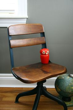 beautiful vintage children's school chair by ohalbatross on Etsy