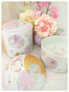 お正月のお重♡オリジナルで手作り♡ポーセラーツ Japanese New Year. Original tableware in porcelain Art