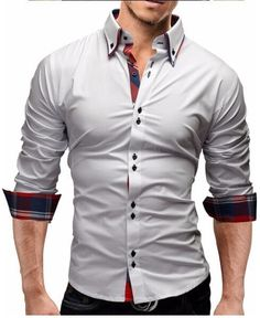 Men'S Slim Fit Long Sleeves Dress Shirt ( yuqidong ) - Buy Online – Gembonics
