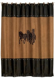 HiEnd Accents 3Horse Embroidered Western Shower Curtain Click On The Affiliate Link Amazon